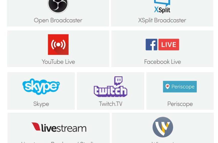 Elenco dei migliori software per lo streaming video – dirette social